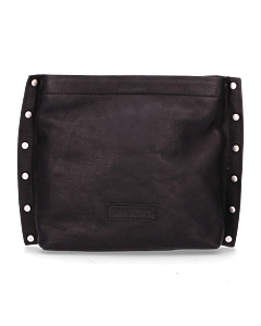Shoulderbag-smooth-leather-with-studs-Black