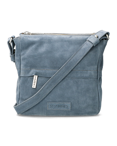 Shoulderbag-suede-Jeans-Blue