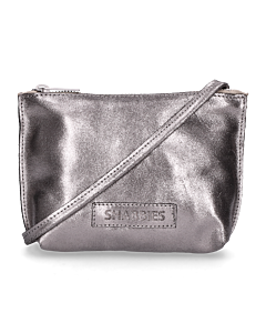 Evening-bag-metallic-grain-leather-silver