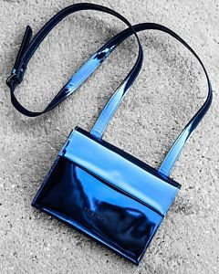 Evening-bag-patent-leather-Navy-Blue-