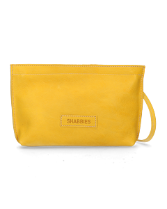 Evening-bag-waxed-smooth-leather-Yellow