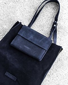 Shopper-suede-with-waxed-grain-leather-Black-