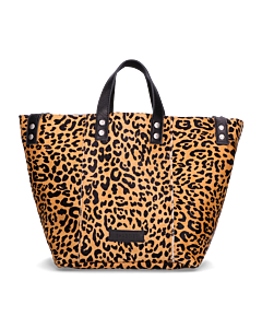 Shopper-luipaardprint-pony-cognac