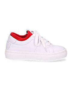 Kids-sneaker-white-leather-neoprene-sock-red-36-till-39