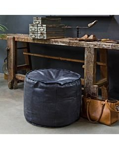 POUF-GINGER-HAND-BUFFED-LEATHER-Super-Black