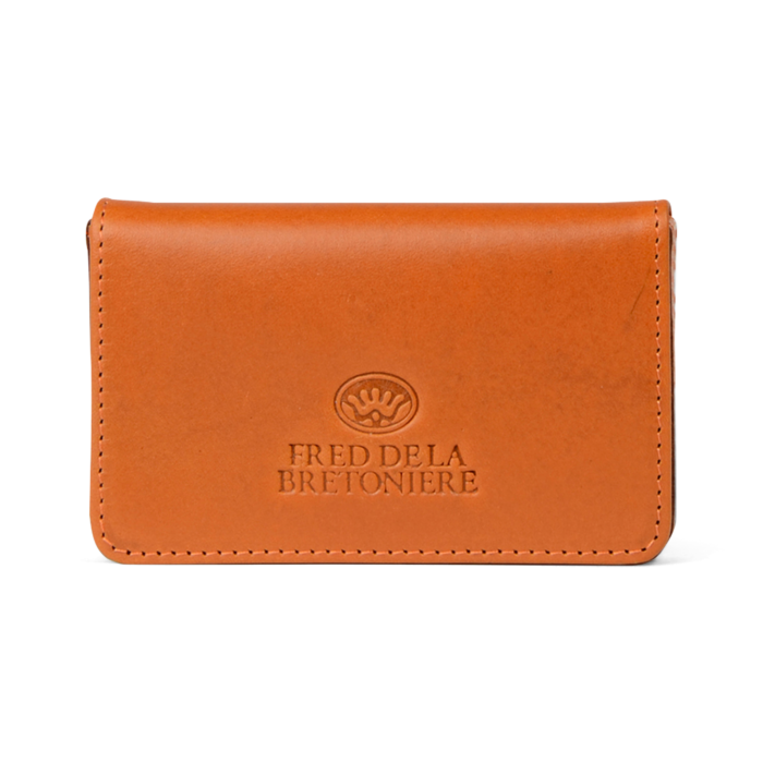 efbff079c821e CREDIT CARD SLEEVE VEGETABLE TANNED LEATHER Cognac