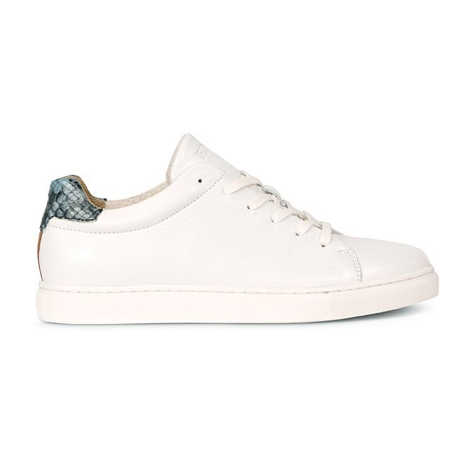 Sneaker-smooth-leather-White/-Light-Blue