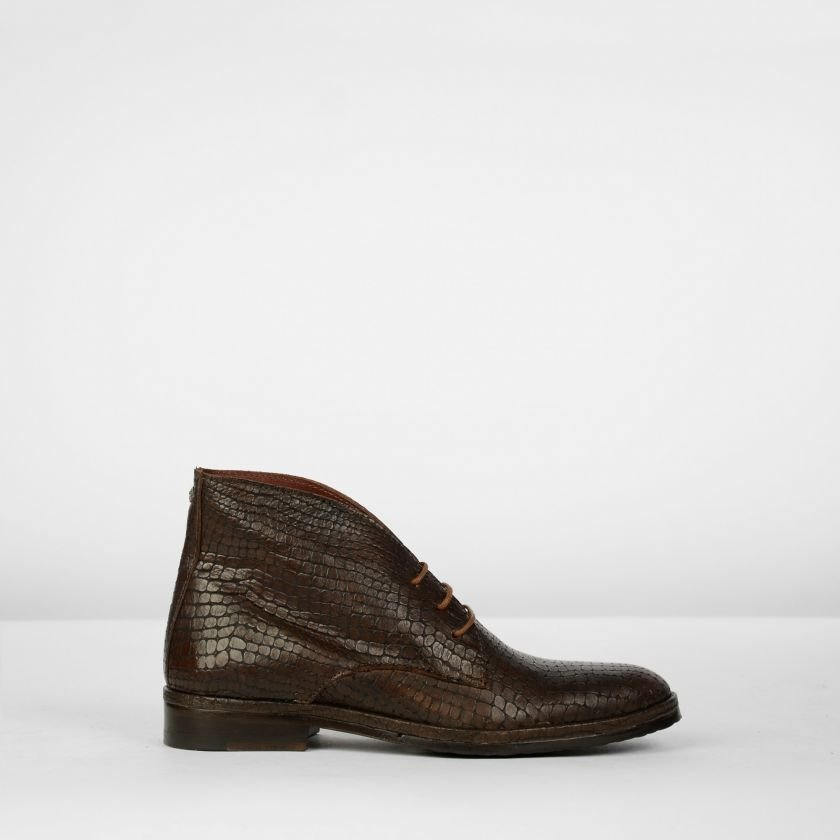 Lace-up-shoe-printed-leather-Brown
