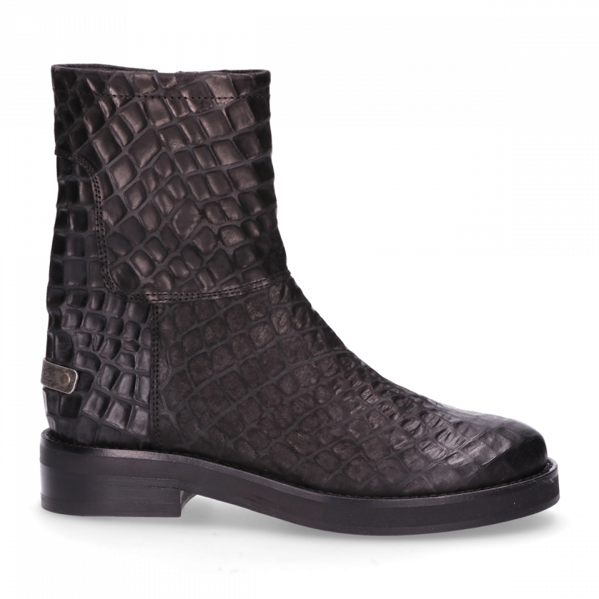 Black With Amsterdam Ankle Shabbies Zipper Boot 181020107 xpxtUag