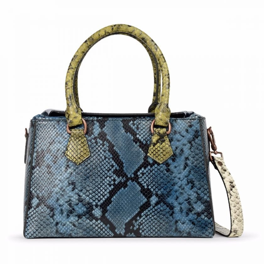 HANDBAG-MEDIUM-SNAKE-PRINT-LEATHER-Multi-Blue-Green-White