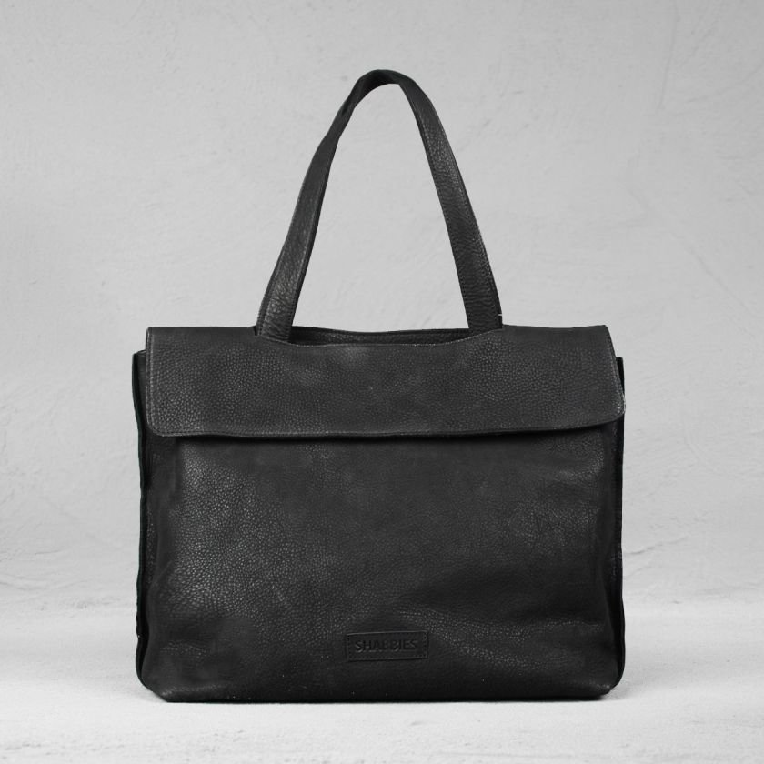 Handbag-waxed-grain-leather-Black-