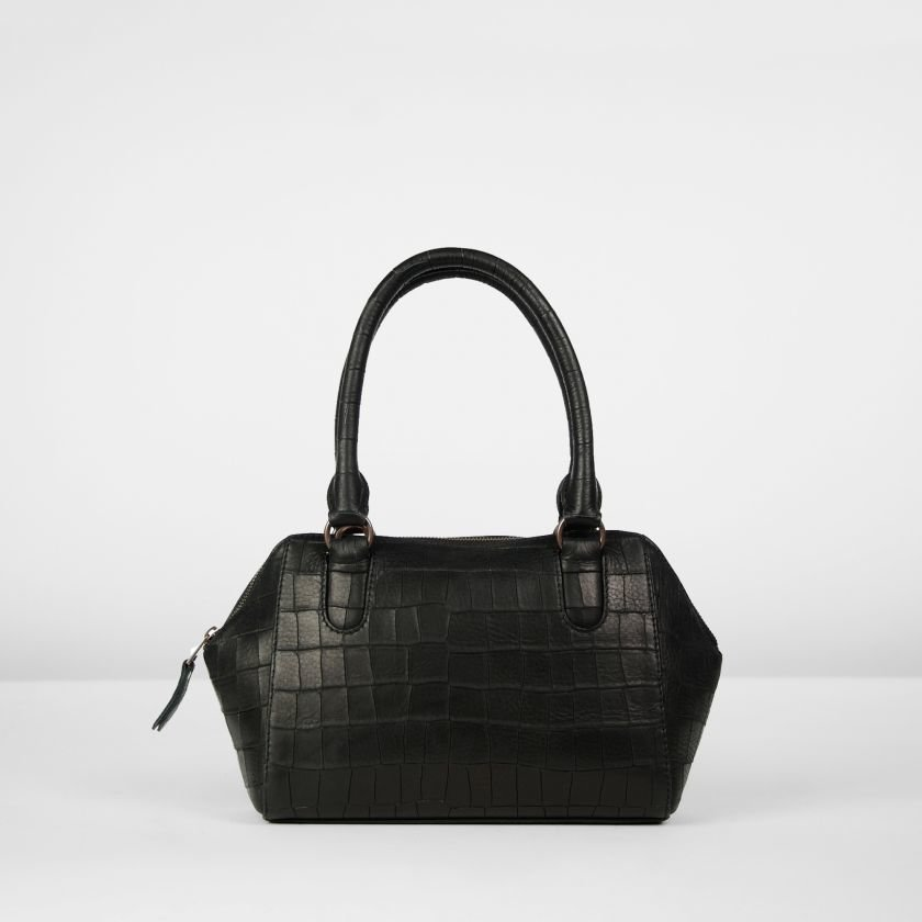 Handbag-printed-leather-Black-