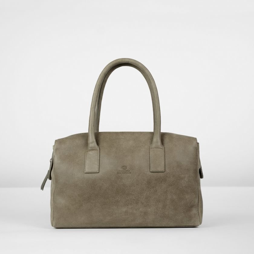 Handbag-hand-buffed-leather-Taupe