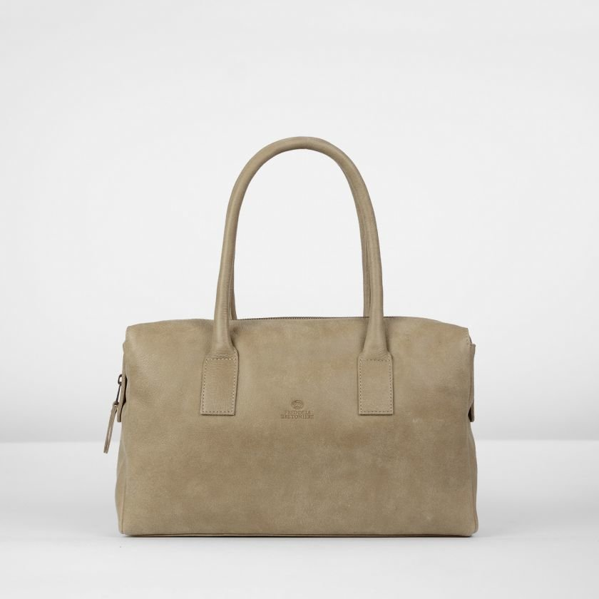 Handbag-hand-buffed-leather-Beige