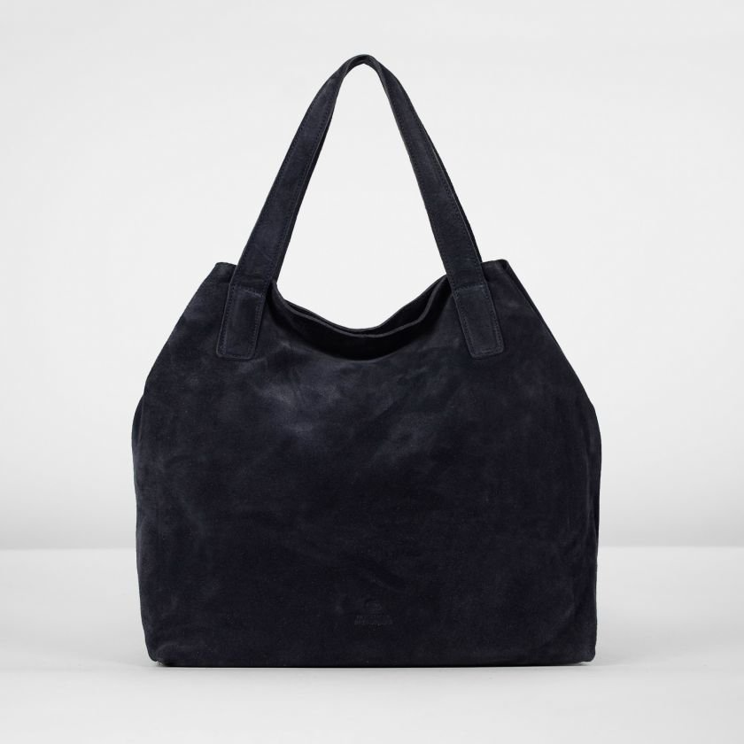 Handbag-suede-Dark-Blue