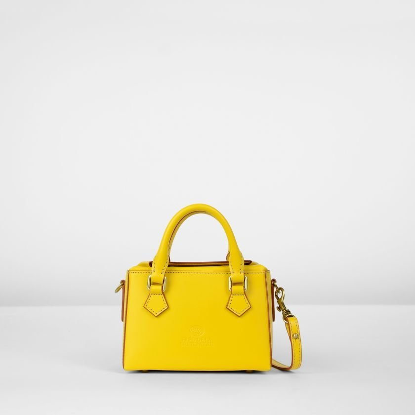 Handbag-natural-dyed-leather-Yellow