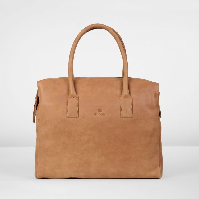 Handbag-hand-buffed-leather-Cognac