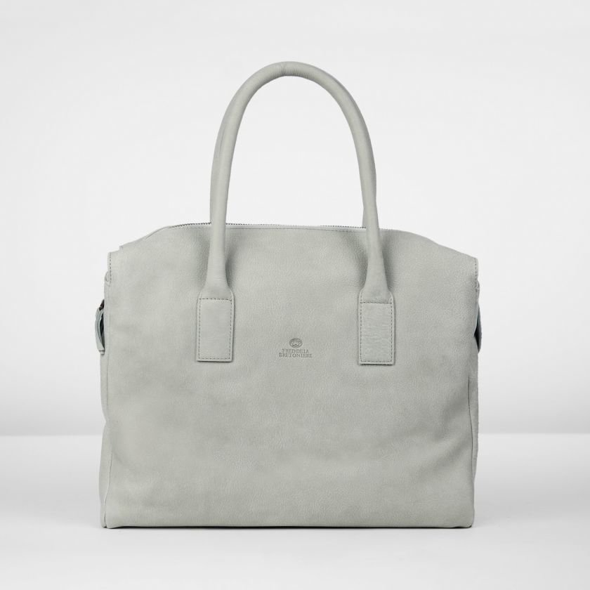 Handbag-hand-buffed-leather-Silver-Grey