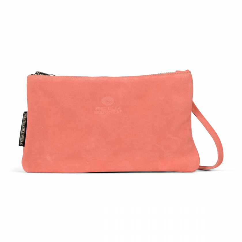 d5967293fa39 CROSS BODY ENVELOPE BAG SUEDE Coral Red