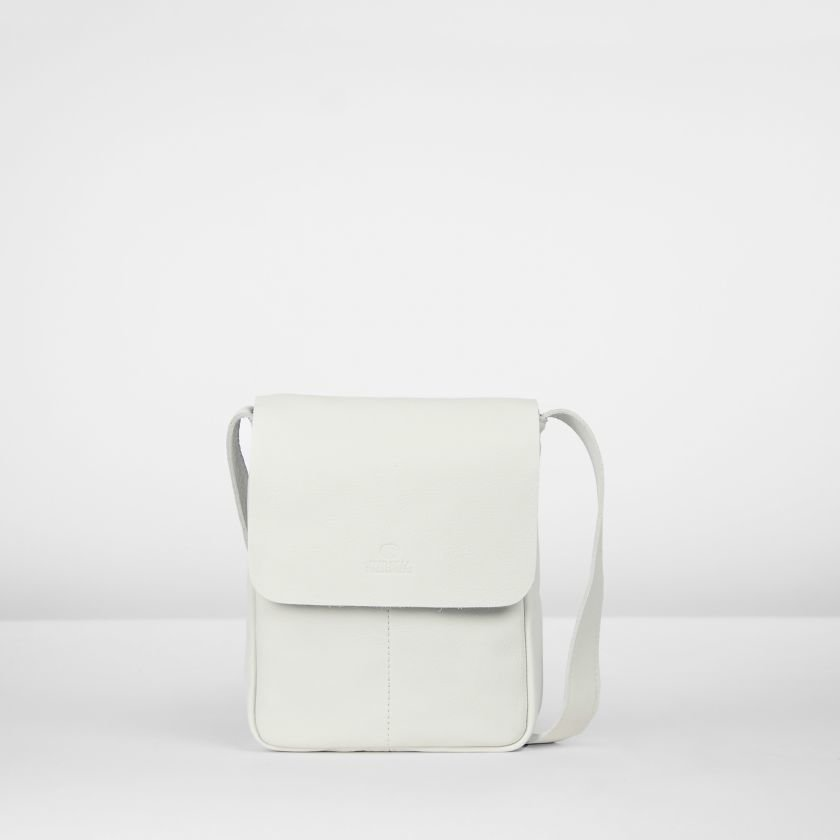 Shoulderbag-smooth-leather-White