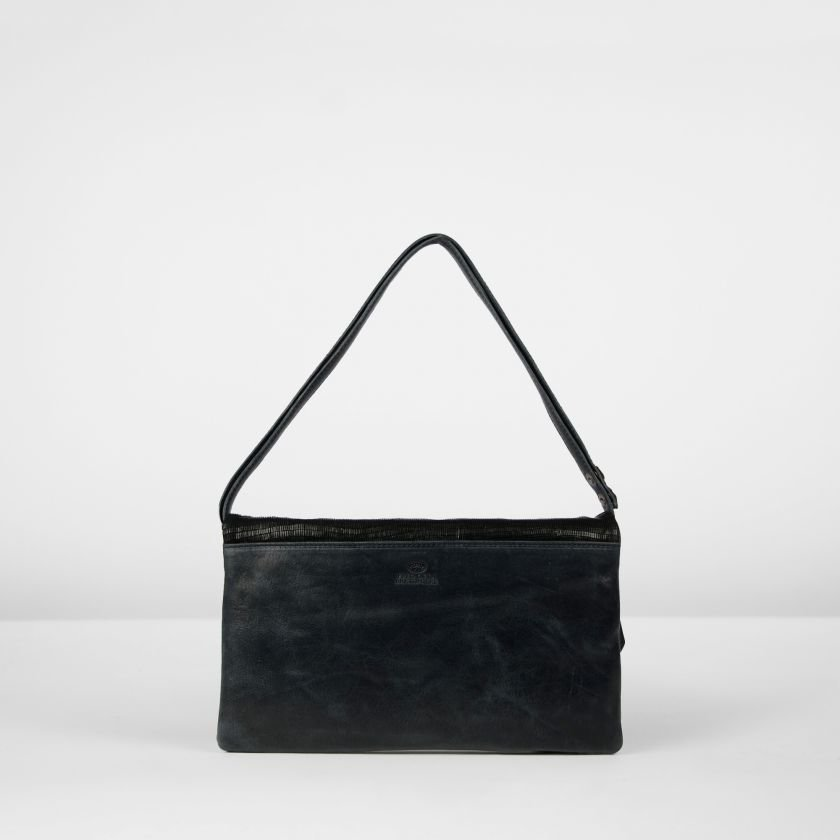 CLUTCH-LIZARD-PRINTED-LEATHER-Black