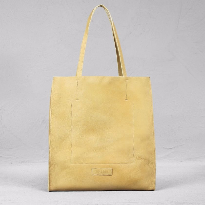 Shopping-bag-hand-buffed-leather-Naturel