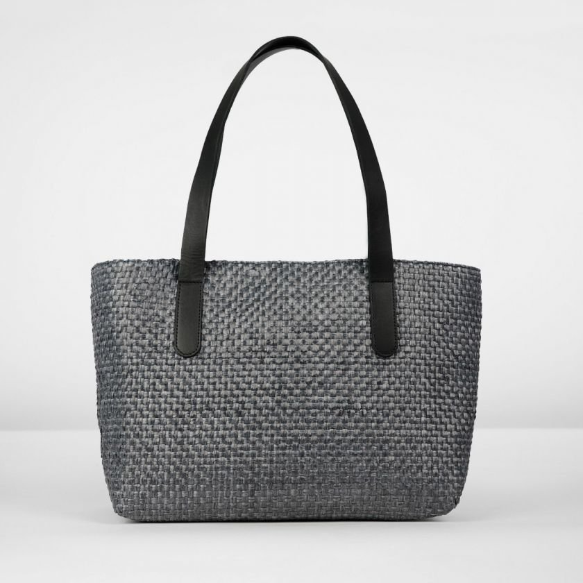 Shoulderbag-woven-fiber-Black