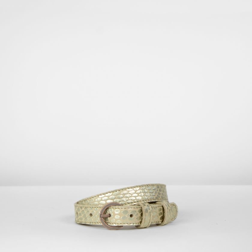 Belt-small-metallic-printed-leather-Metal-Gold
