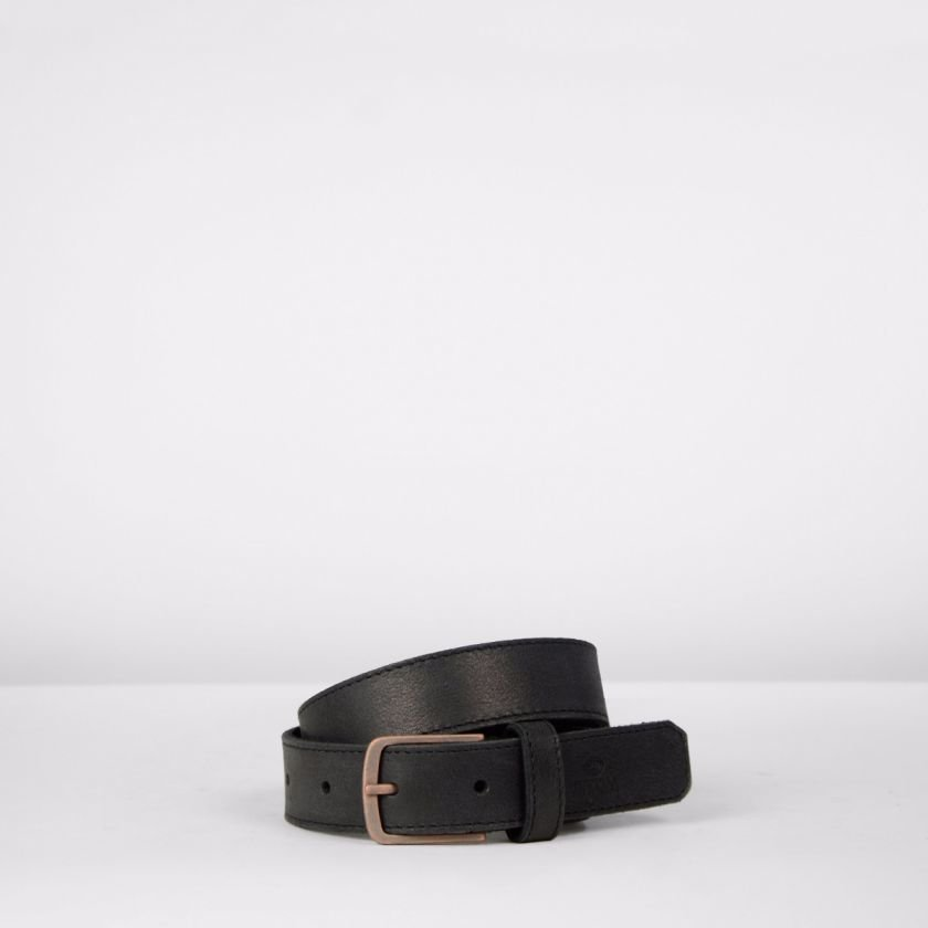 Belt-hand-buffed-leather-Black