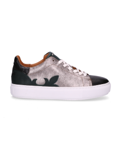 Sisterhood-Sneaker-Black,-Silver-&-Dark-Green