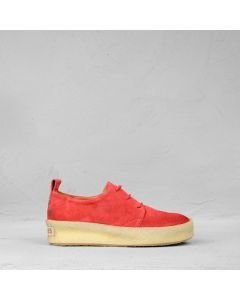Lace-up-suede-shoe-red