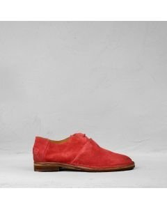 Lace-up-shoe-suede-red