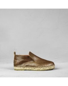 Espadrille metallic printed leather Gold