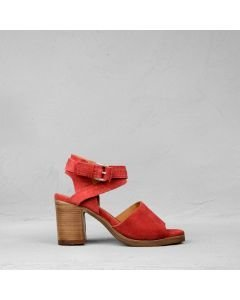 Heeled-sandal-suede-red