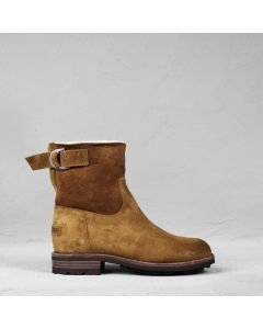 Ankle boot waxed suede Cognac