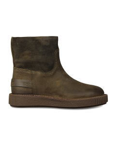 Ankle-boot-waxed-suede-Dark-Olive