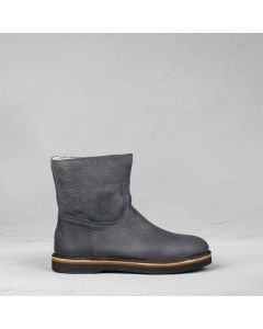 Ankle boot heavy grain leather Black