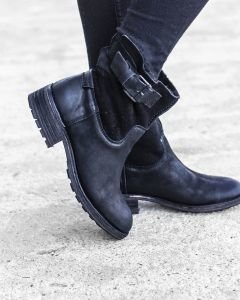 Ankle-boot-waxed-grain-leather-with-double-face-Black