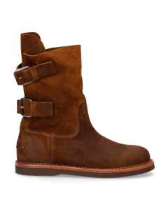 Ankle-boot-waxed-suede-Brown