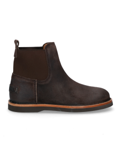 Chelsea-boot-waxed-suede-Dark-Brown