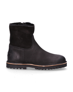 Ankle-boot-waxed-grain-leather-double-face-Black