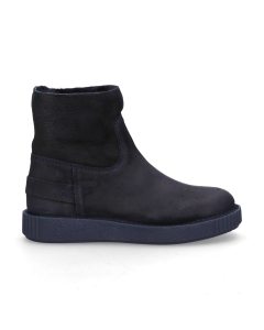 Ankle-boot-waxed-suede-Dark-Blue