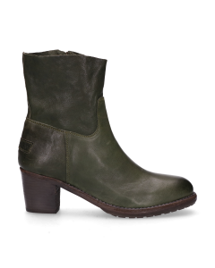 Ankle-boot-smooth-leather-Green