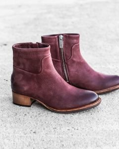 Ankle-boot-waxed-grain-leather-Bordeaux
