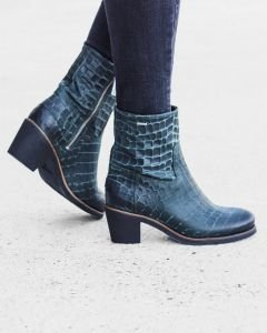Ankle-boot-printed-leather-Green