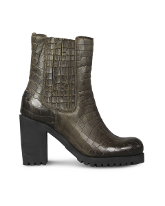 Ankle-boot-printed-leather-Olive-Brown