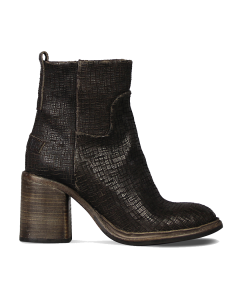 Ankle-boot-cutted-leather-Dark-Brown