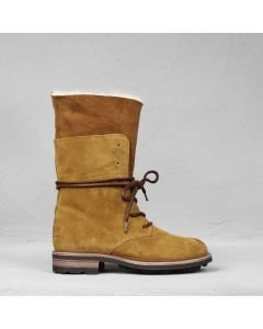 Ankle-boot-waxed-suede-Cognac