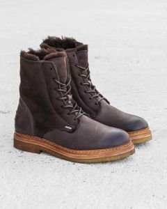 Lace-up-boot-waxed-grain-leather-double-face-Dark-Brown