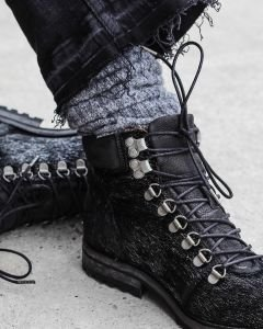 Hiker-boot-lace-up-haircalf-leather-Silver-Grey